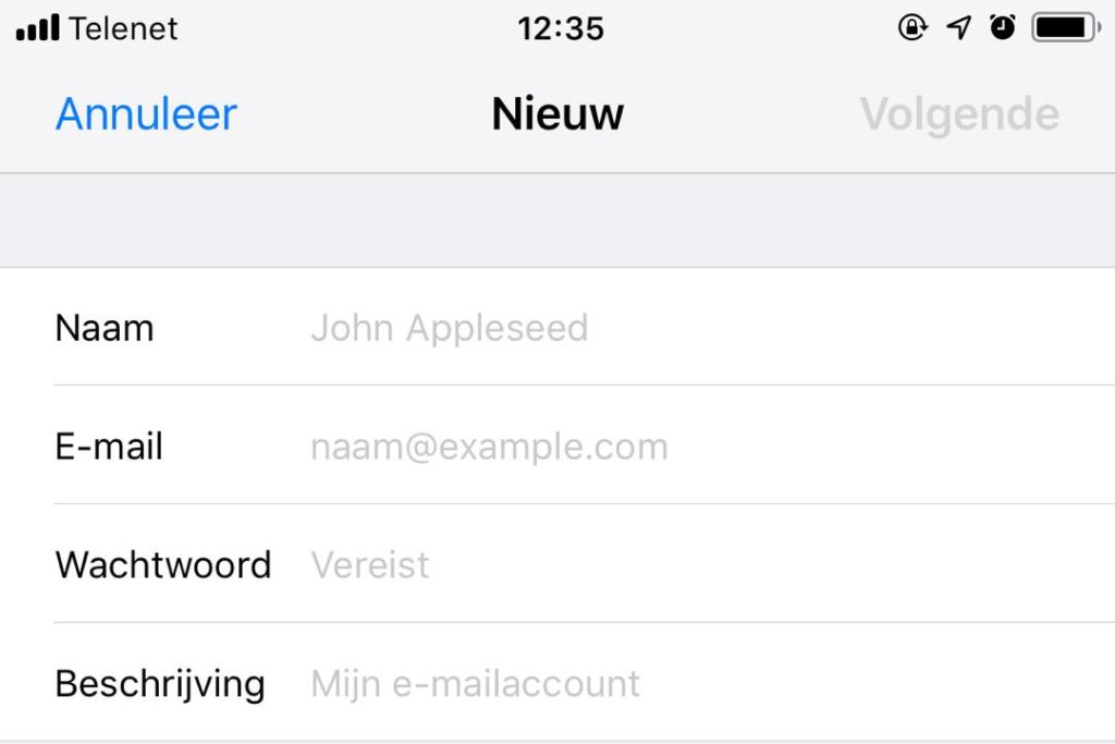 Email Iphone 3